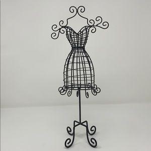 Metal Wire Dress Jewelry Stand